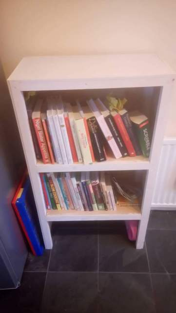 Cookery bookshelves