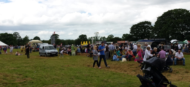 People at a village fayre