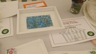 Embroidery and 3rd prize certificate