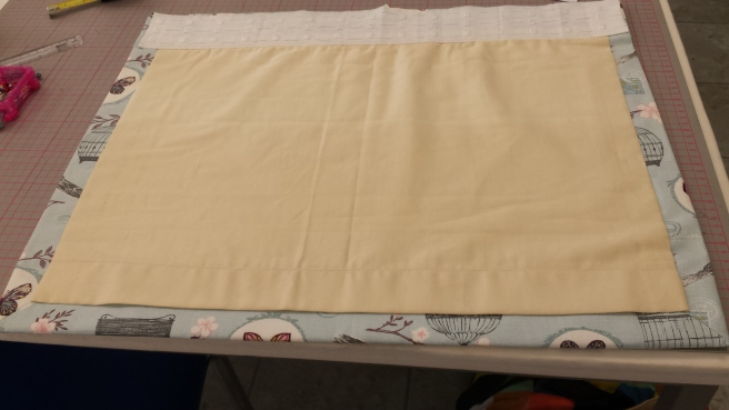 Sample of lined and interlined curtain
