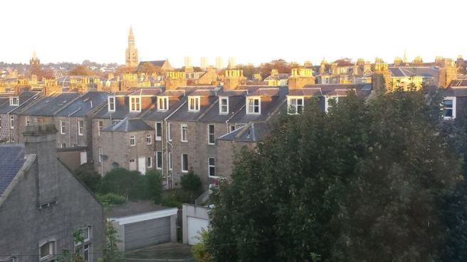 Aberdeen rooftops in the sunshine