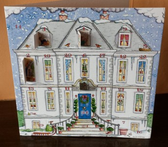 Advent calendar of a house