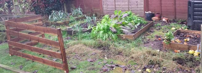 Veg plot with half finished fence