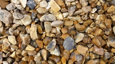 Close-up of golden gravel