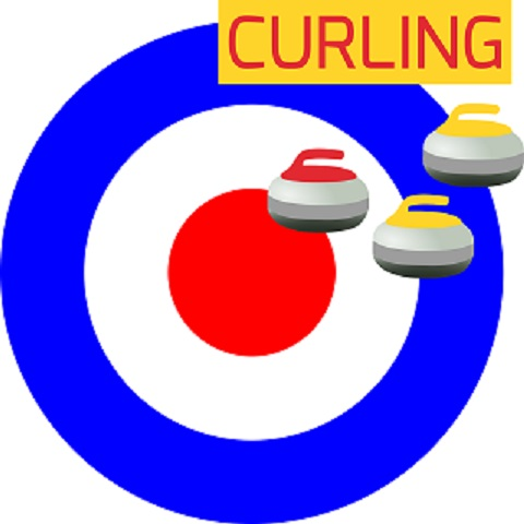 Image of curling house and 3 stones