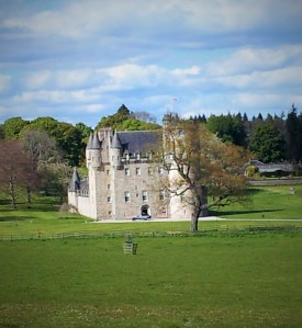 Scottish granite castle set into a park