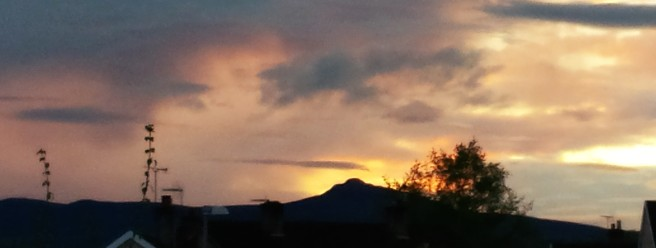 Bennachie hilltop in the sunrise