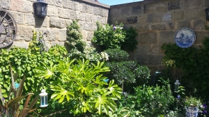 Walled courtyard